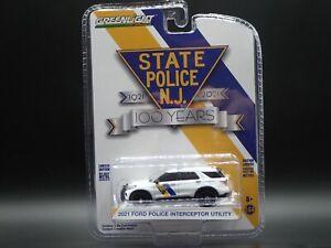 2021 GREENLIGHT 2021 FORD POLICE INTERCEPTOR UTILITY NJ 100TH  ANNIVERSARY S 12