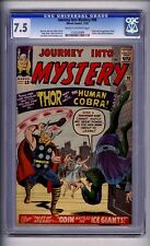 CGC (MARVEL) JOURNEY INTO MYSTERY/THOR  98 VF- 7.5 1963 C-OW COBRA APP