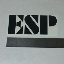 ESP GUITARS Vinyl DECAL STICKER BLK/WHT Rock Heavy Metal BAND Logo Bass Window