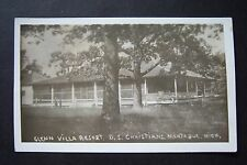 GLENN VILLA RESORT, D.S. Christians, Montague, Michigan RPPC vintage postcard