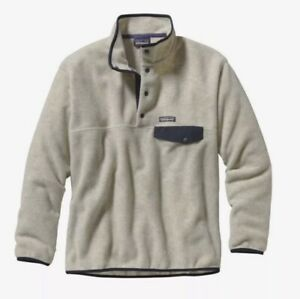 Patagonia Men's Synchilla Snap-T Fleece Pullover in Oatmeal Heather - Size M