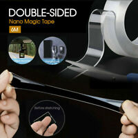 6M Traceless Clear Double-Sided Nano Magic Tape Adhesive Invisible Gel Anti-Slip