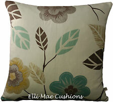 Harlequin Adelina Floral Turquoise Coffee Neutral Designer Cushion Pillow Cover