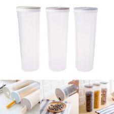 Food Storage Box Spaghetti Noodles Container Grain Cereal Jar Airtight Leak