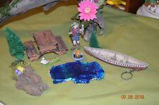Fairy Garden Miniature supply lot Fishing trip