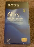 Sony T120VRH Premium Grade VHS Video Tapes Factory Sealed (5) Five Pack