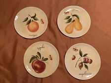 """TWO Pier One Plates Raspberries + Pears + 2 extra plates 7.75"""""""