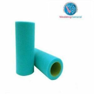 "WeddingGeneral's Tutu Tulle Roll 6"" W x25yds Soft Netting Craft Fabric Torquoise"