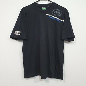 Rugby World Cup 2011 New Zealand Mens T-Shirt Small Logo Graphic Rugby Union