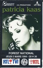 Ticket Concert: Patricia Kaas (3/3/1994) Forest National Bruxelles