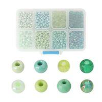 Glas Rocailles Perlen Rund Mix ca. 5mm D. - 4mm D.,ca. 1900 Stück/Box