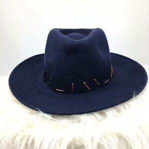Women's Wool Panama Hat Navy Blue Universal Thread Fashion One Size