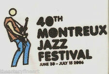 JULIAN OPIE 'Guitar Player' Polo Shirt Montreux Jazz Festival 2006 L White *NEW*