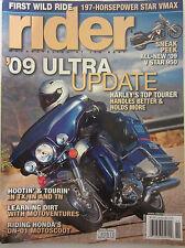 Rider Magazine November 2008 '09 Ultra Update Harley's Top Tourer V Star 950 Vma