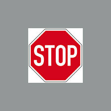 1 Sticker 5cm Sticker Stop Shield Notice Warning Stop Caution 4061963009635