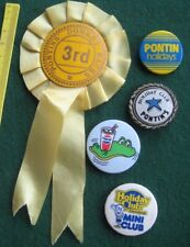 PONTINS HOLIDAY CAMPS lotx5 vintage 1960-80s campers tin pin BADGES