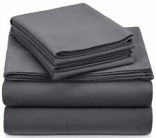 Pinzon Signature 190-Gram Cotton Heavyweight Velvet Flannel Sheet Set - Queen,