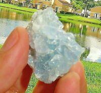 Madagascar Celestite Crystal druzy cluster sky Blue Geode Mineral (2pcs) 1-2inch