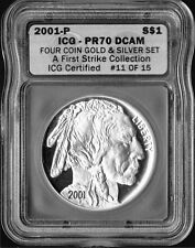 2001-P US BUFFALO S$1 ICG PR70 DCAM, First Strike