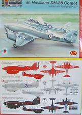 """De Havilland DH-88 Comet """"RAF and Foreign"""" ,  KP , 1:72 , Plastik ,  *NEU*"""