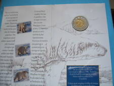 1996 POLAR BEAR CANADA $2 COIN SEALED ON CARD SHARP