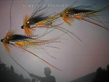3 V Fly 3/4 Inch Brass Ultimate Silver Cascade Feeler Francis Salmon Tube Flies