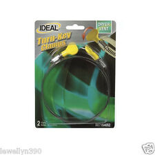"""2 pack  Turn-key Hose Clamp 4"""" size 64 RV or  Dryer Vents Hand Tighten Stainless"""
