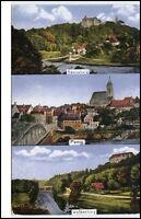 Sachsen Mehrbild-AK ~1920 Rochsburg Penig Wolkenburg Kunstverlag Bertling Gl.