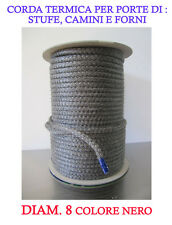 FIRE ROPE/JOINT/DICHTSCHNUR DIAM 8 FOR WOOD STOVES AND FIREPLACES RES UP TO 550°