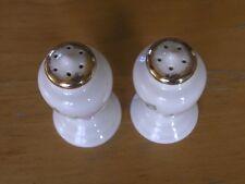 Beautiful Vintage Ceramics Porcelain Pink Roses Salt & Pepper Shakers Gold Gilt