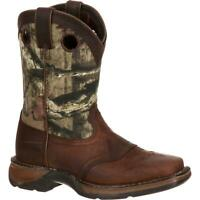LIL' DURANGO® Big Kid Camo Saddle Western Boot