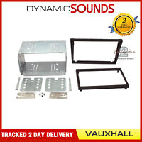 CT23VX01 Double Din Car Stereo Fascia Fitting Panel Adaptor Black For VAUXHALL