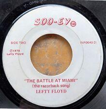 ARKANSAS RAZORBACKS football 45: LEFTY FLOYD The Battle at Miami/Red Hog Rag