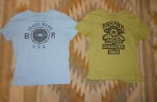 Lot of 2 Banana Republic Men's M ~ Cotton Graphic T Shirts ~ Tagless Green Blue