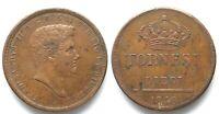 DUE SICILIE 10 Tornesi 1840 FERDINANDO II di BORBONE rame SPL! # 29447