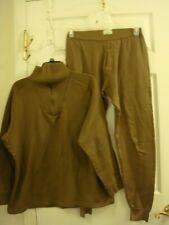 Men's Army Green Long John Underwear Set Long Sleeve Shirt & Pants Size L/Xl