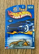 NEW Hot Wheels 1:64 Diecast 2002 Collector #197 Scorchin Scooter Gold Motorcycle