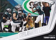 Two card lot of 2018 Score Football Celebration Insert Philadelphia Eagles #2