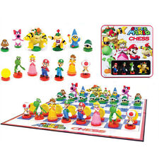 SUPER MARIO BROS CHESS COLLECTOR'S EDITION SCACCHI SCACCHIERA CHESSBOARD FIGURE
