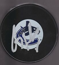 CORY SCHNEIDER Auto'd 2011 CUP VANCOUVER CANUCKS Puck