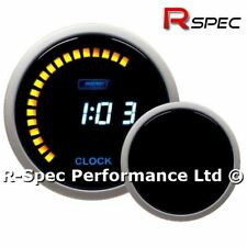 52 mm 12 V LCD ProSport Azul Digital indicador de reloj de tiempo-Pantalla 12 H o 24 H