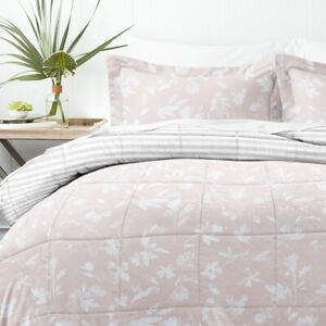 Home Collection Down Alternative Pressed Flowers Reversible Comforter Set