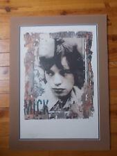 """Lithographie Gered Mankowitz """" Mick Jagger """" , numérotée et estampillée"""