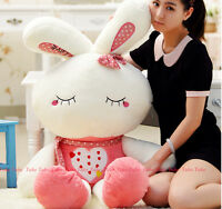 65cm Lovely Cute Plush Doll Toy Stuffed Animal Rabbit Pillow Bolster Xmas Gift @
