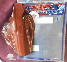 "Desantis #001 OWB Leather TB HolsterColt Gov't 45 5"" & Sim Right Hand Tan D326"