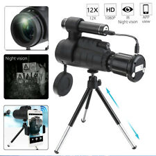 Wifi Infrared IR HD Monocular Night Vision Telescope Hunting Phone Lens +