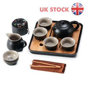Chinese Teapot Cup With Tray Infuser Travel Ceramic Tea Set For Picnic Business