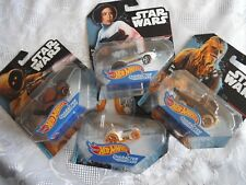 Star Wars Hot Wheels 1:64 Diecast Character Cars Set of 5