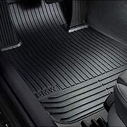 BMW OEM FRONT BLACK 5 SERIES Rubber Floor Mats 51472153725