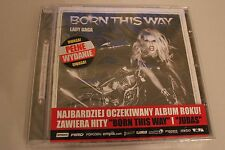 LADY GAGA - BORN THIS WAY - POLISH RELEASE PROMO STICKERS RARE